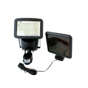 LED21 Solární LED reflektor s PIR čidlem a externím solárním panelem 120xSMD2835 700lm Studená bílá ZD45A